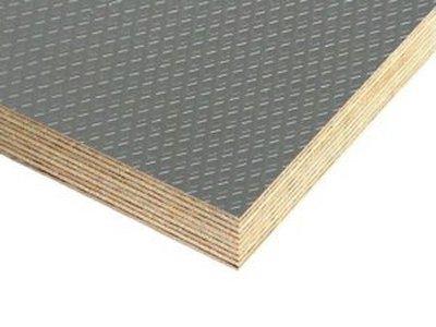 Slip Resistant Flooring Plywood Dark Grey Carat Pattern