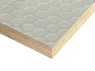 Slip Resistant Flooring Plywood Light Grey Crown Pattern