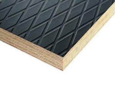 Slip Resistant Flooring Plywood Brown Diamond Pattern